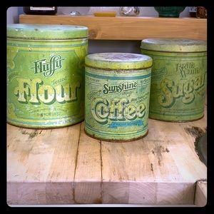 Kitchen containers flour, sugar, coffee. 3 set